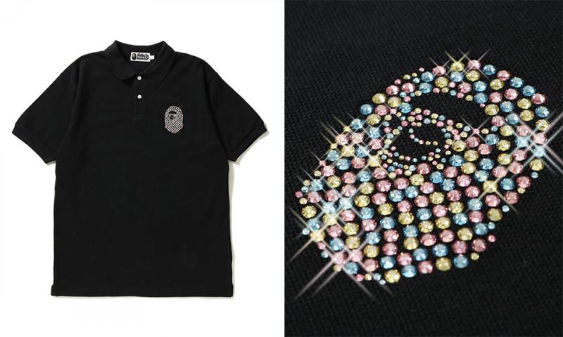 ベイプがスワロフスキーのクリスタルを装飾したポロシャツを発売