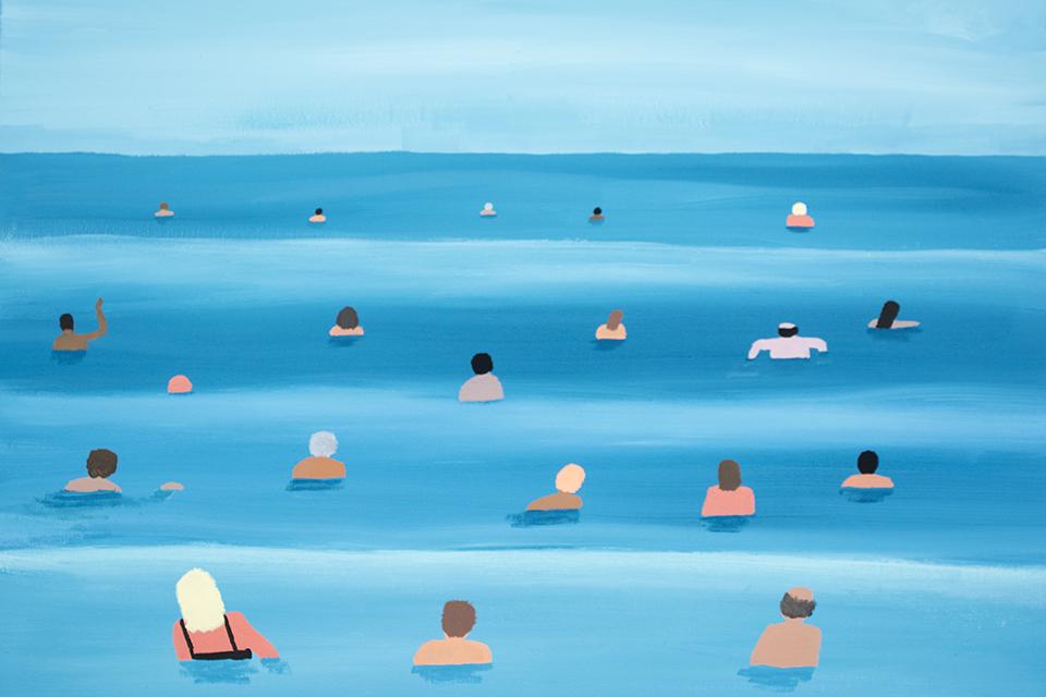 """フランス人アーティストのジャン・ジュリアンが日本初の個展""""同じ海""""を開催"""