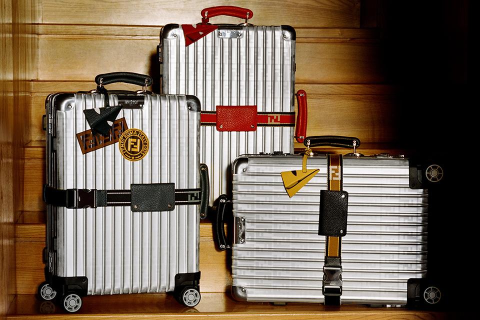 フェンディxリモワが新色コラボスーツケースを発売