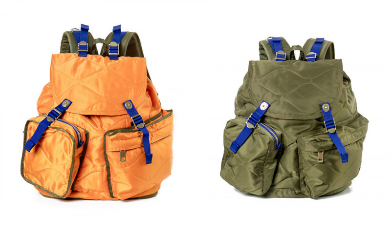サカイとポーターがミリタリー風バッグのカプセルコレクションを発表