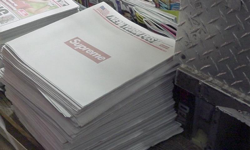 シュプリームが米新聞紙『ニューヨーク・ポスト』のフロントページに出現