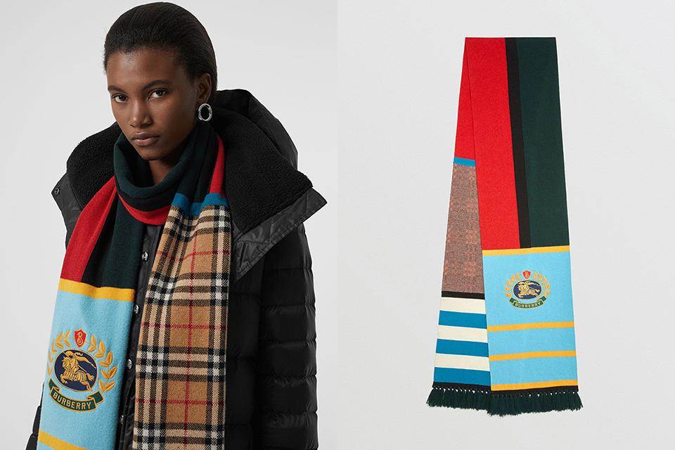 BURBERRYから<br>マルチカラーのスカーフが登場