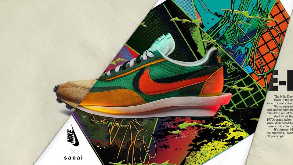 話題の「Nike x sacai」が発売<br>ハイブリッドな精神表現