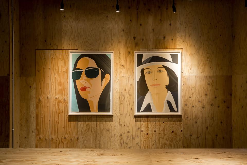 米美術家アレックス・カッツ<br>コレクション4枚の作品を展示