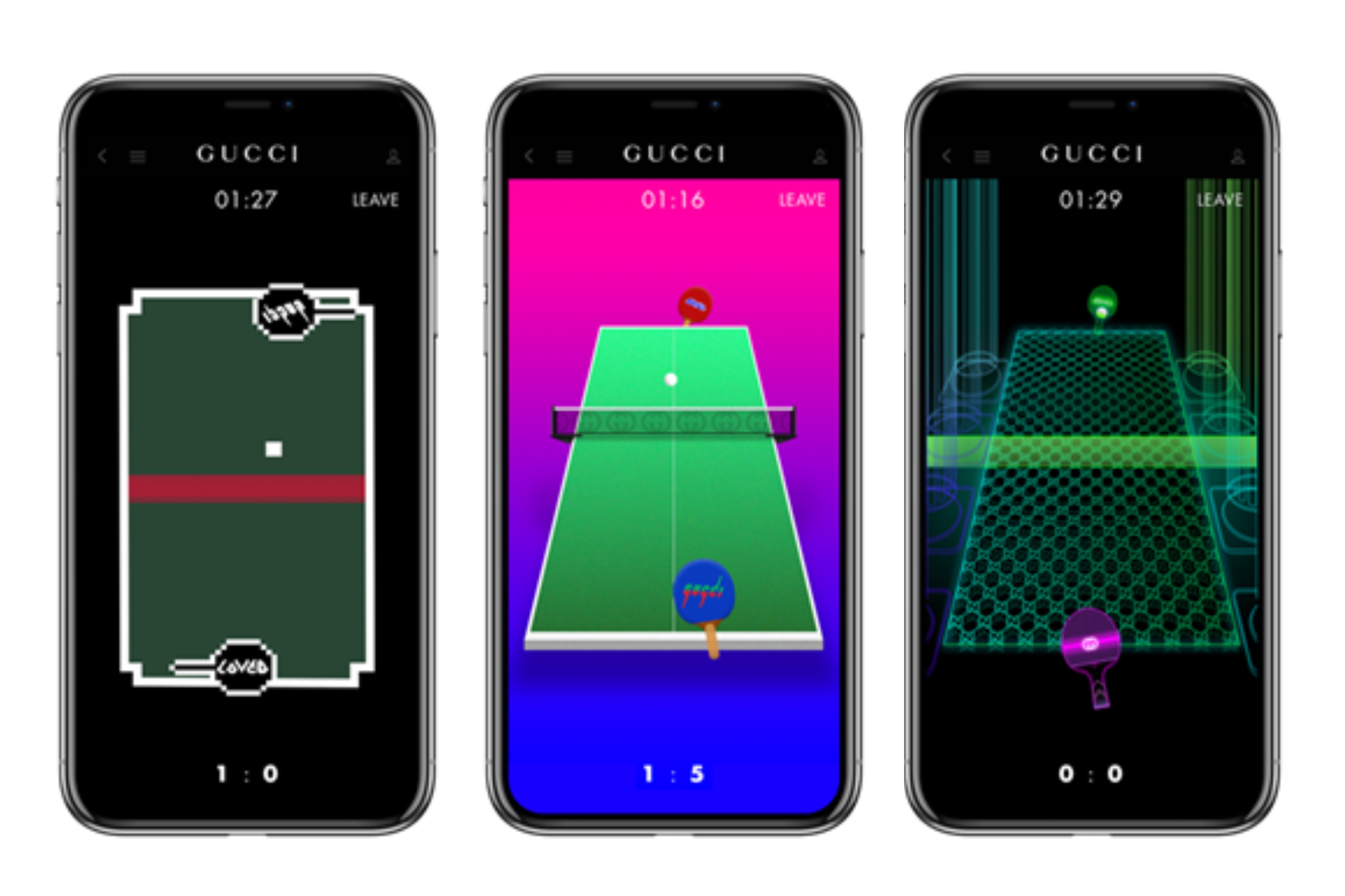 GUCCI公式アプリに2ゲーム<br>テクノロジーで過去と現在融合
