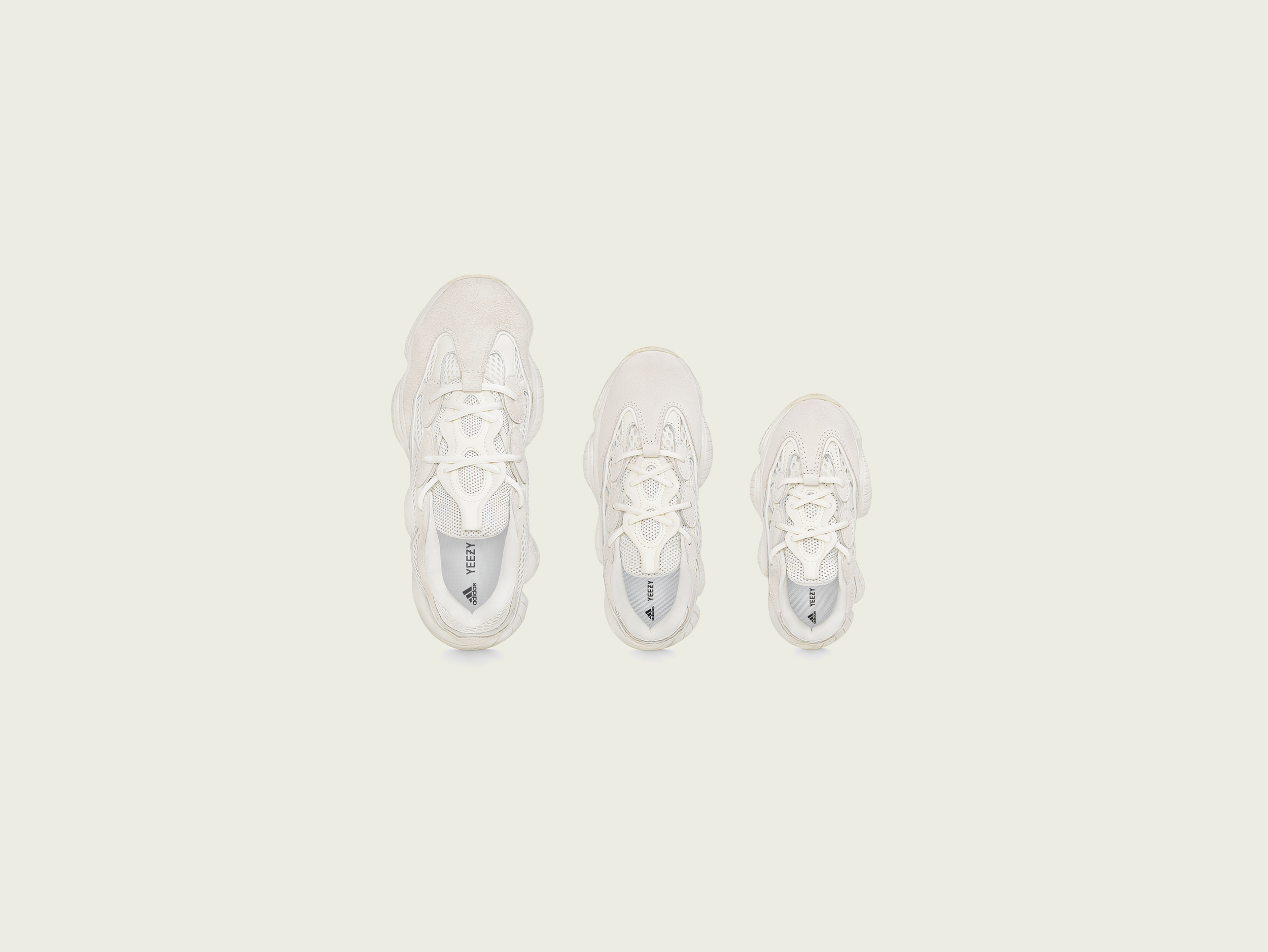adidas + KANYE WEST新色<br>ファミリーサイズで展開
