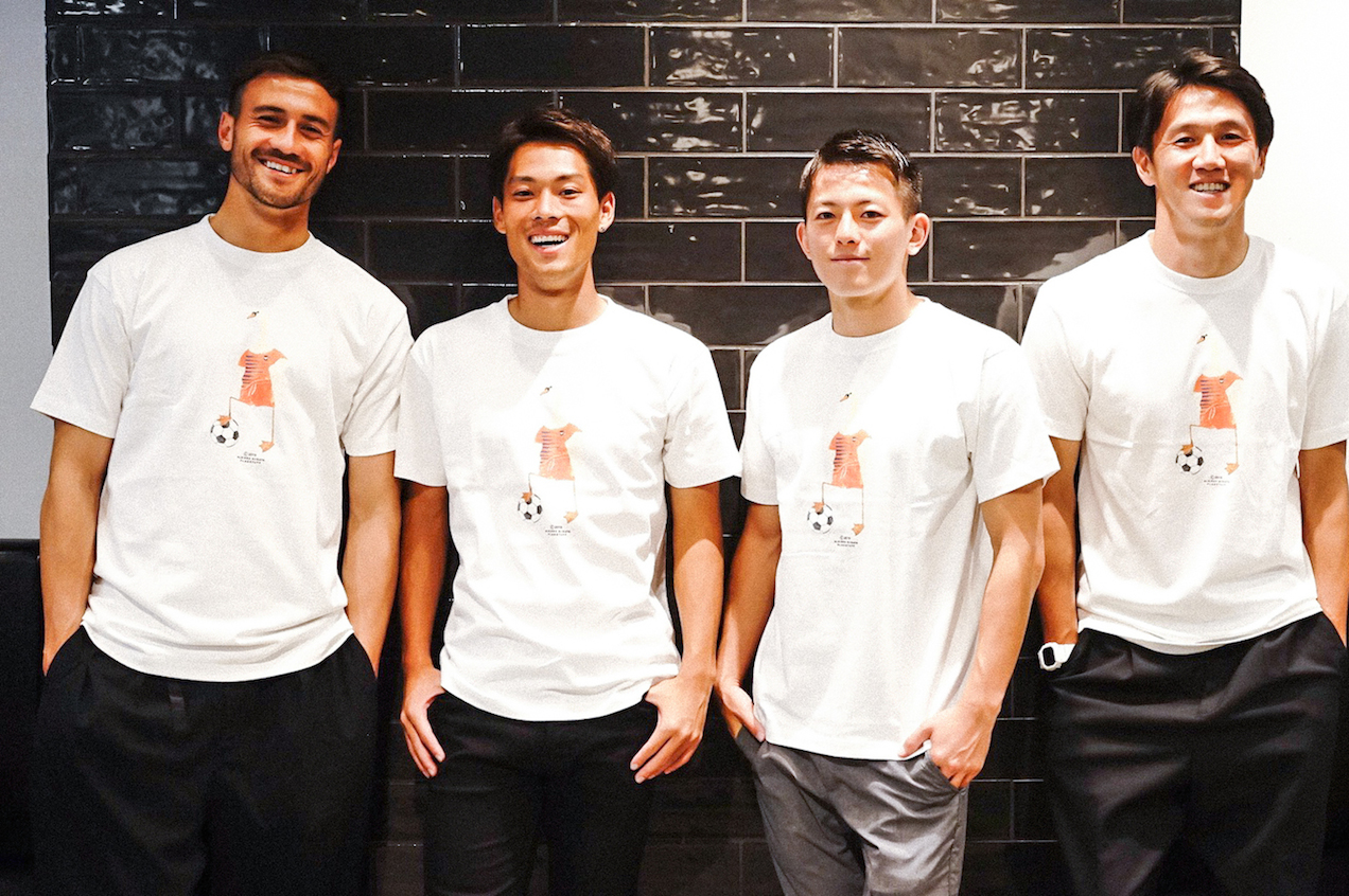 アルビレックス新潟とF-LAGSTUF-FのコラボTシャツが発売