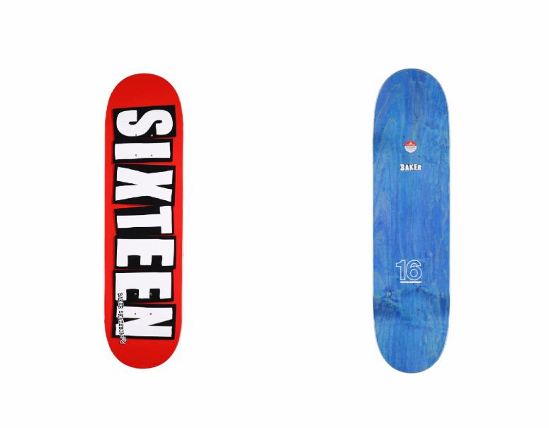 Baker Skateboards×16<br>4サイズのスケートデッキ登場