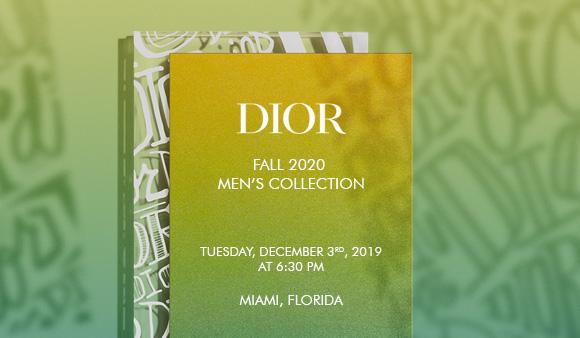 【LIVE配信】DIOR、米マイアミでフォール 2020メンズ ランウェイショー
