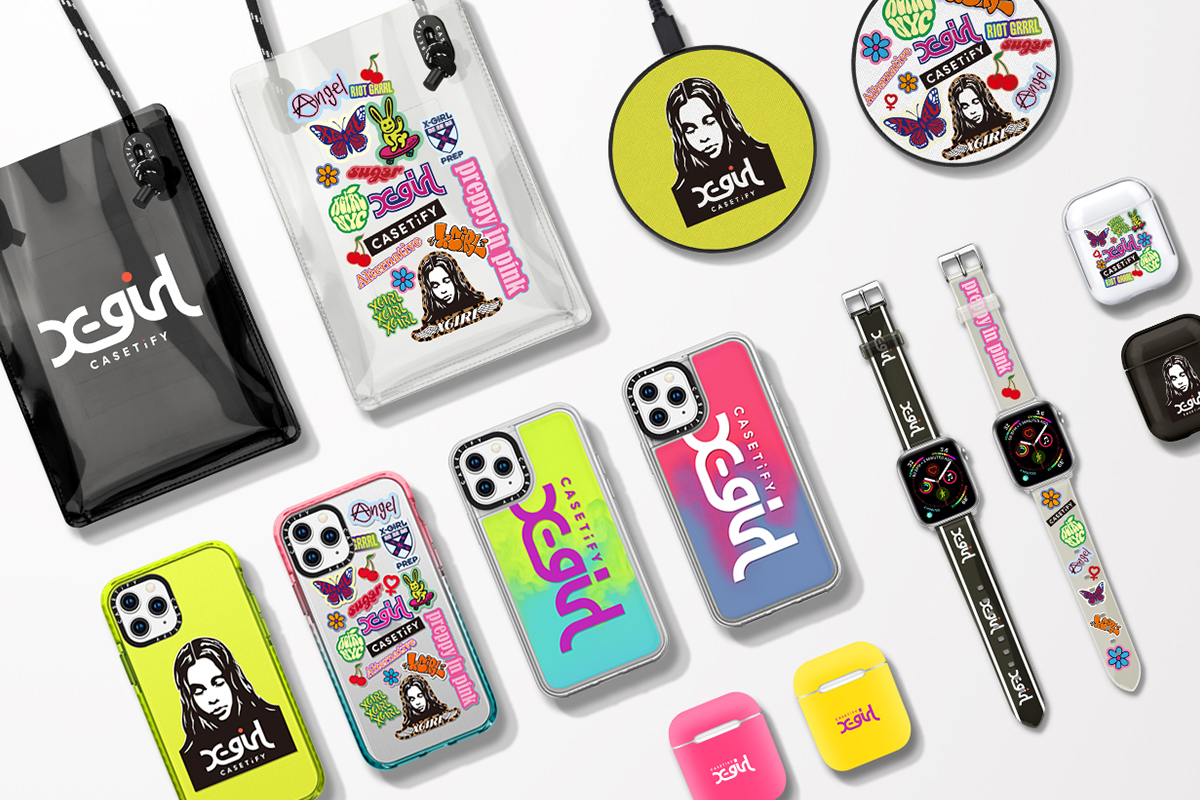 CASETiFY、X-girlとコラボ ネオンカラーシリーズなど発売