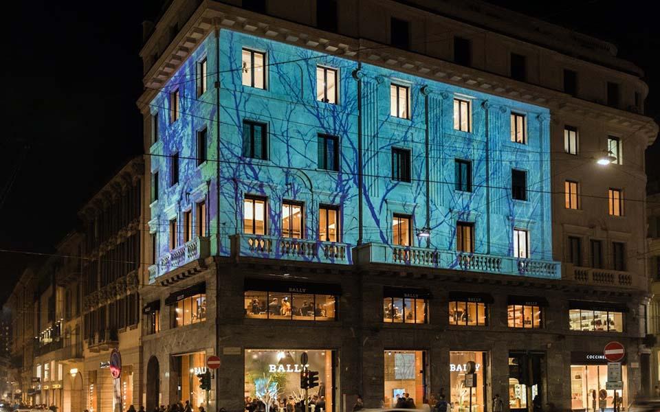 ミラノのBALLY旗艦店で自然連想させるグラフィカルなイベント開催