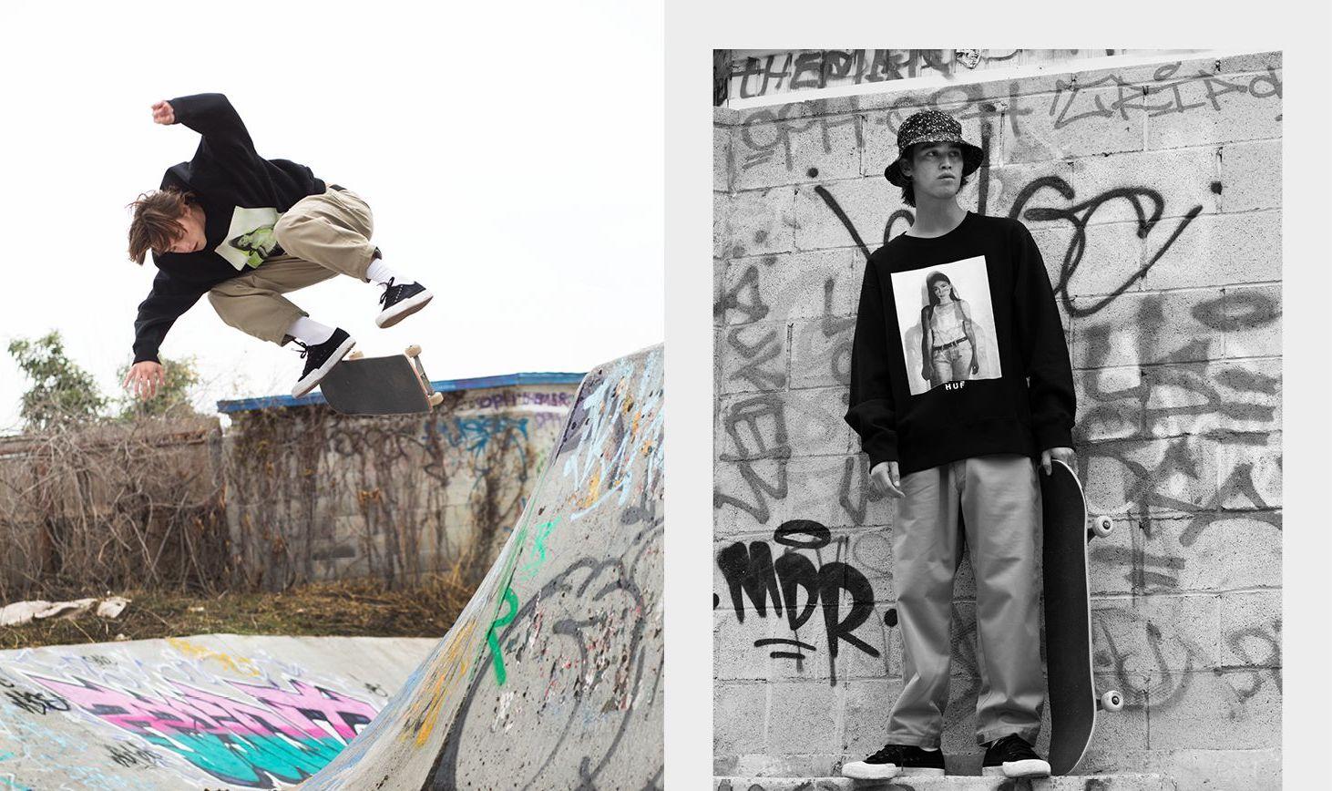 スケートシーンにフォーカス、HUF×UNITED ARROWS&SONS第2弾発売