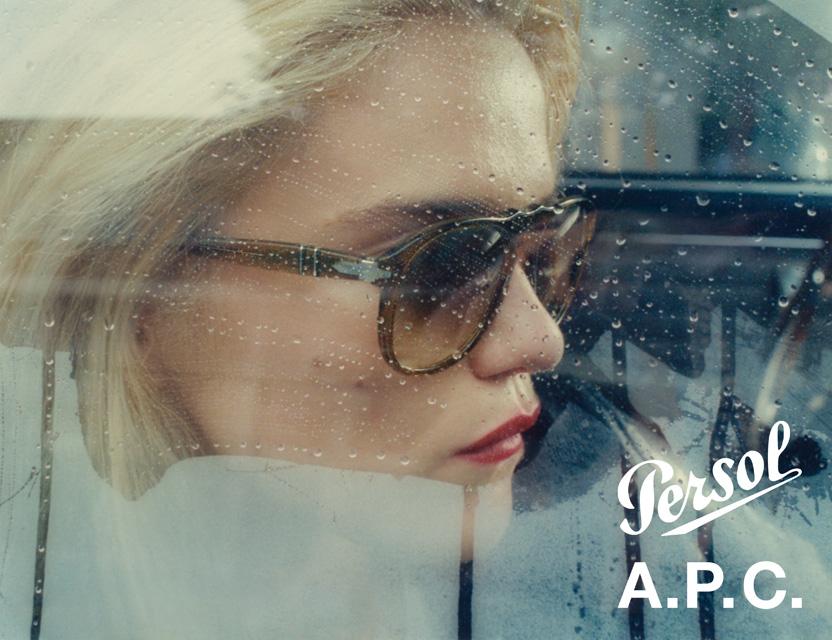 A.P.C. × Persol、3つのカラーリングを配色したサングラスが発売
