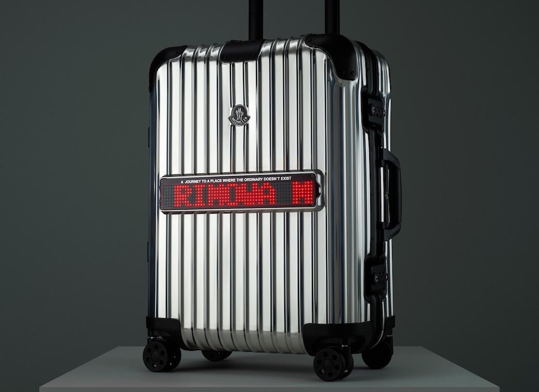RIMOWA×MONCLER、鏡のような表面のコラボスーツケース発表