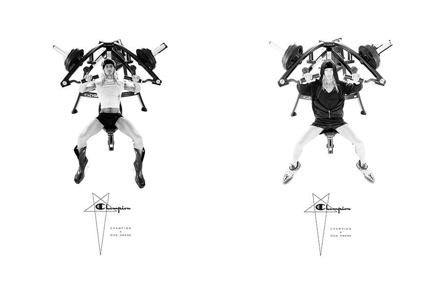 Champion × Rick Owens、モダンに再解釈したコラボコレクション発売