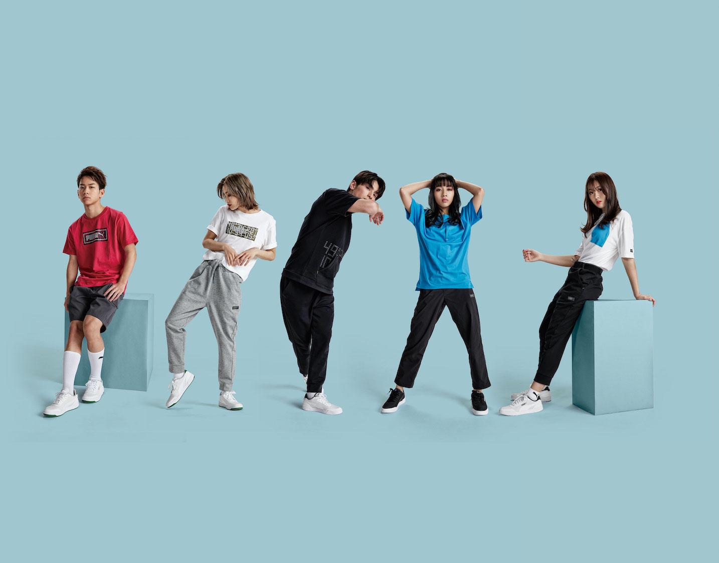 ダンス&ヴォーカルグループ「lol」 が着こなす、PUMA「STYLE PLUS」発売