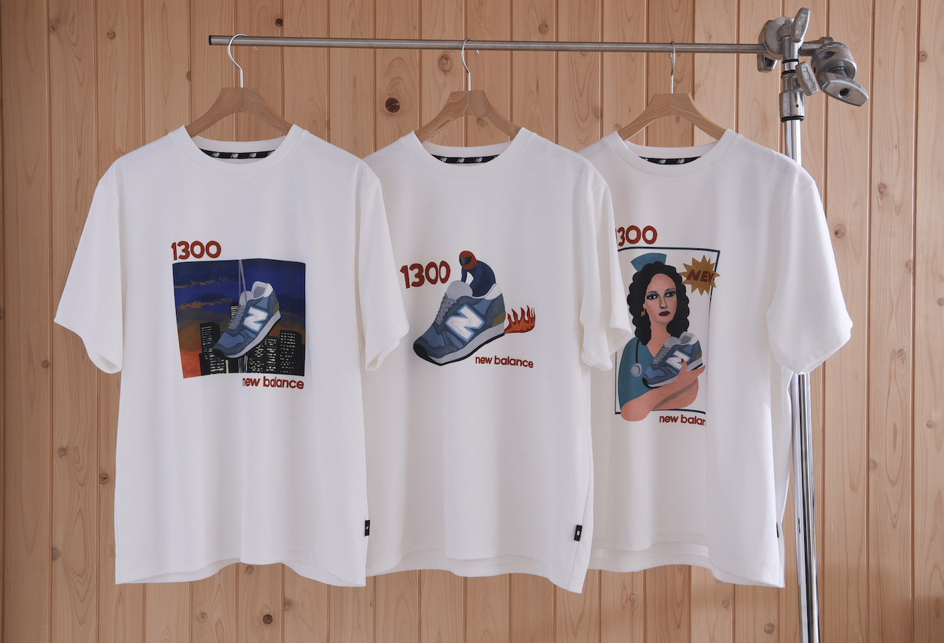 New Balance、アーティスト3人とのコラボTシャツ発売