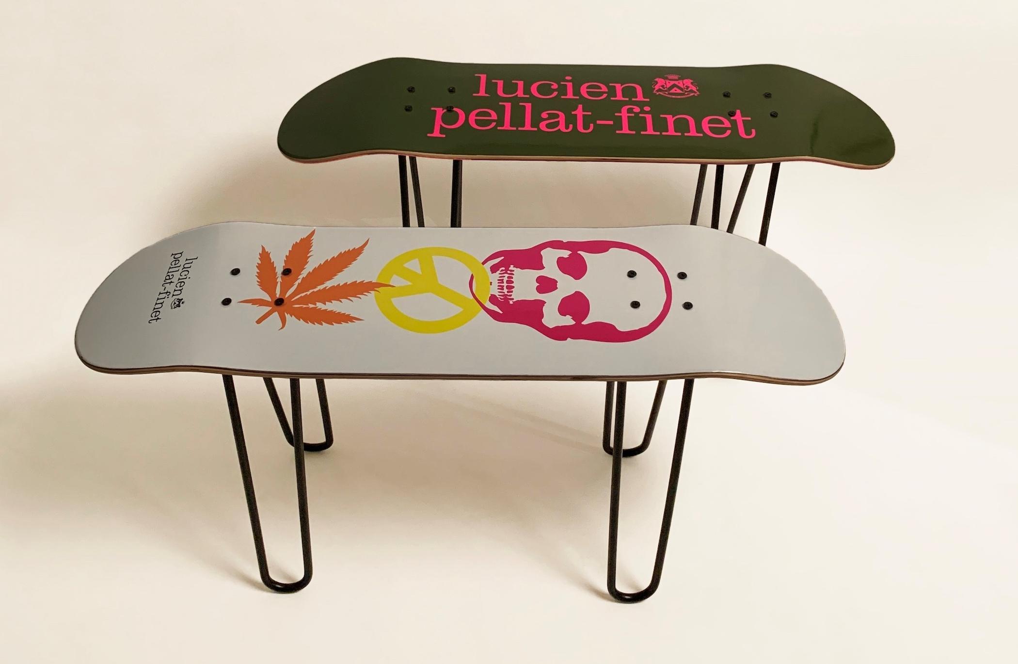lucien pellat-finet、インテリアとしても使用可能なスケートボードデッキ発売