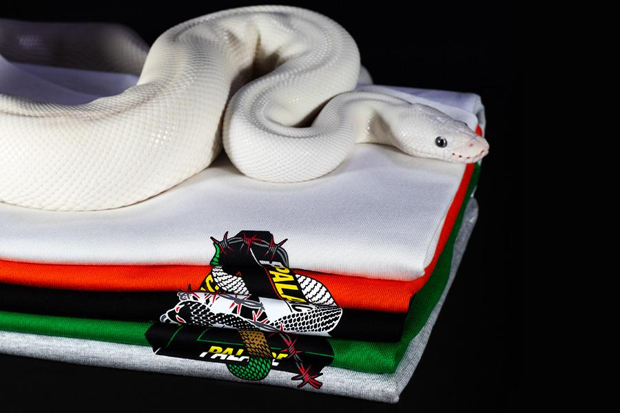 三角ロゴに蛇と有刺鉄線 PALACE「HESH MIT FRESH」Tシャツ発売