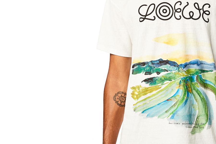7つの地を水彩画に落とし込んだLOEWE新作Tシャツ発売