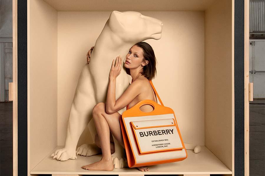 ベラ・ハディッド起用 BURBERRY初バッグキャンペーン発表