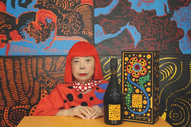 Veuve Clicquot、草間彌生デザインのシャンパーニュ