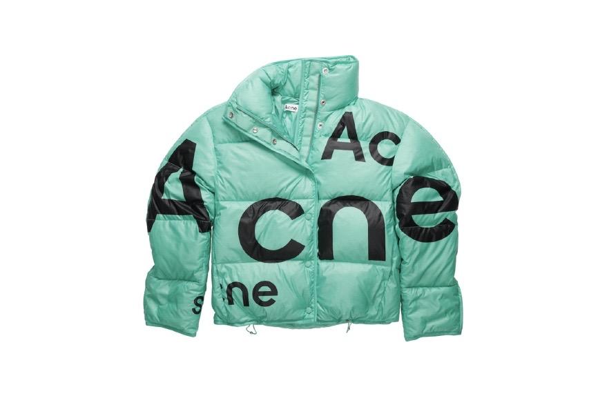 Acne Studios、デストロイロゴプリントを施した新作アウター発売