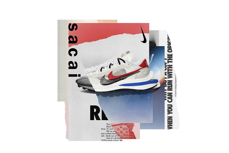 阿部千登勢デザインによる「Nike × sacai ヴェイパーワッフル」発売