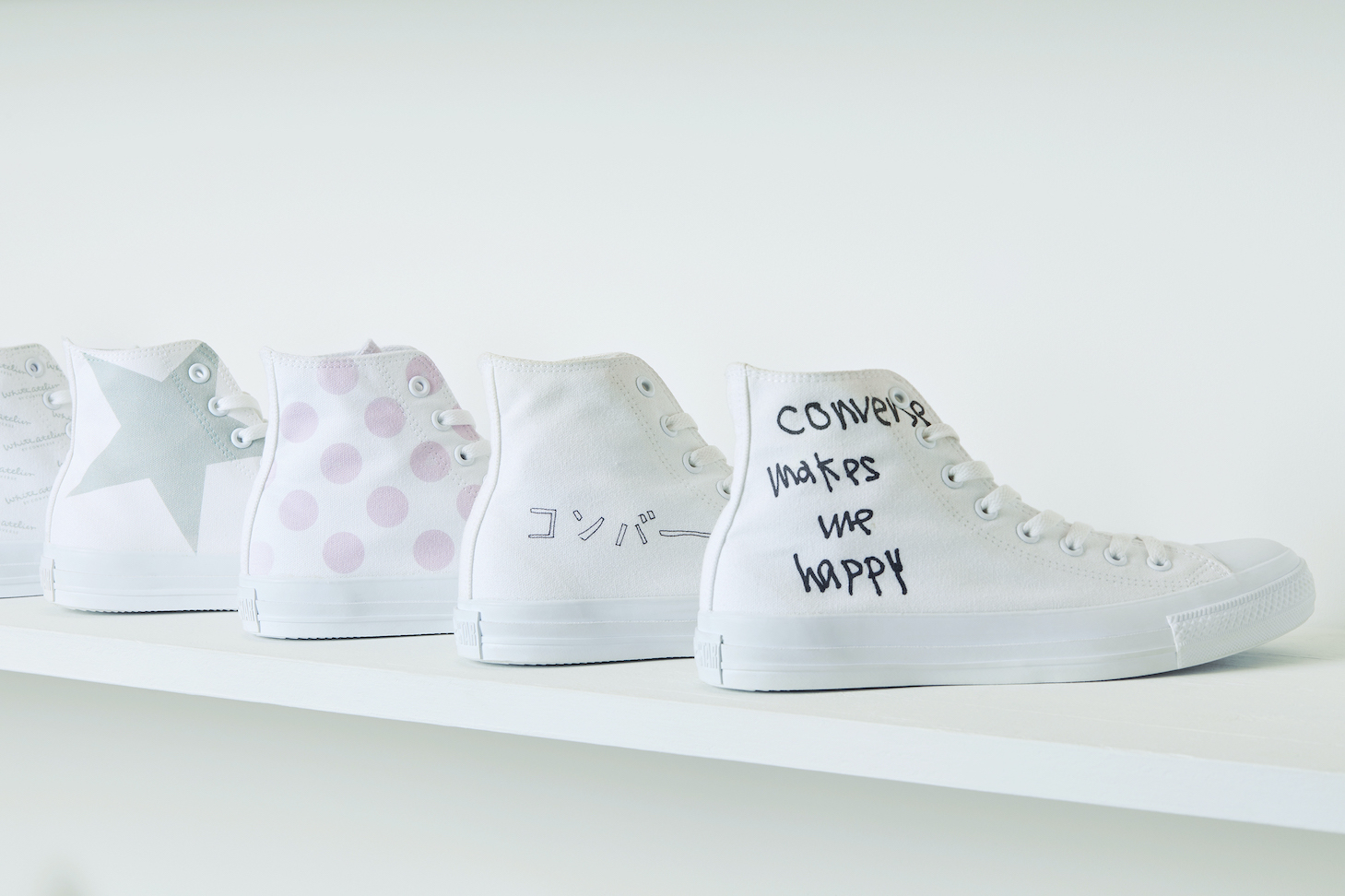 White atelier BY CONVERSEプリントカスタマイズキャンペーン開催