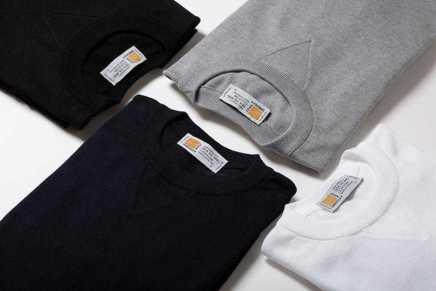 FRAGMENT DESIGN、JOHN SMEDLEYとスウェットシャツ仕様のコラボニット発売