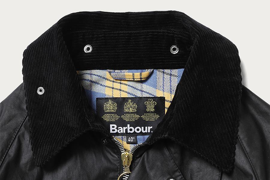 UNUSED、Barbour別注コート発売 オリジナルの歪みチェック柄を裏地に
