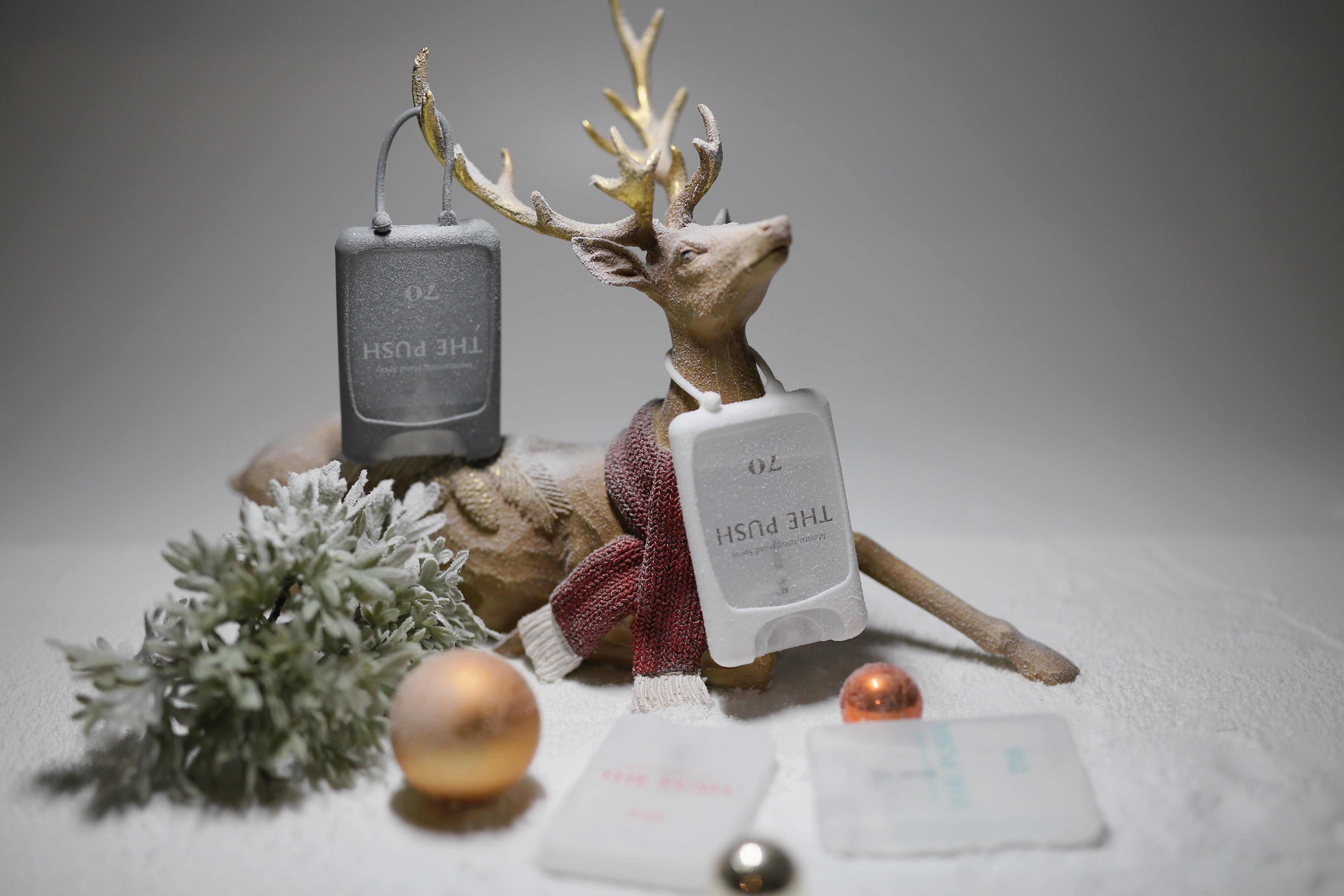 アロマの香り漂う カード型除菌スプレー「THE PUSH」発売