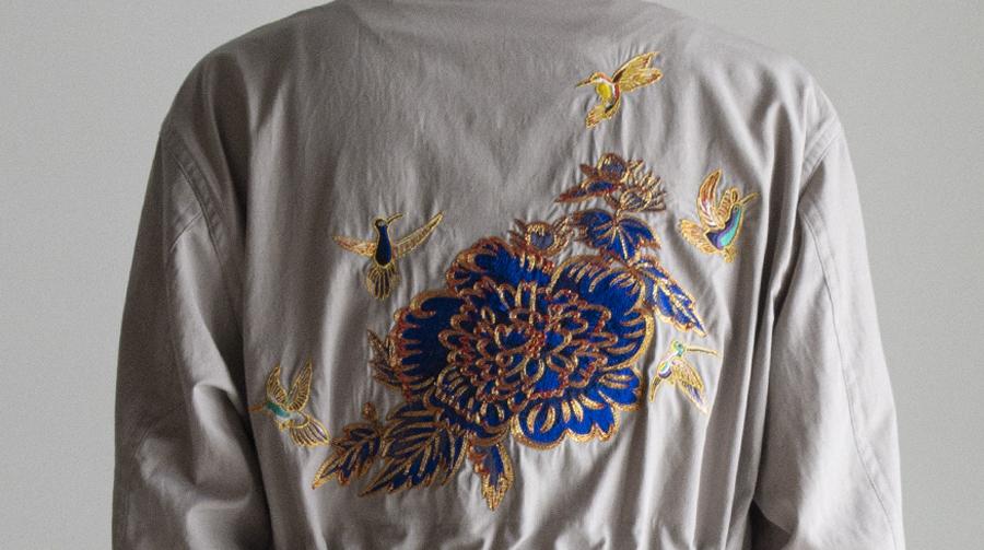 京都の壁画家作品を刺繍で表現 RAINMAKERから新作アイテム発売
