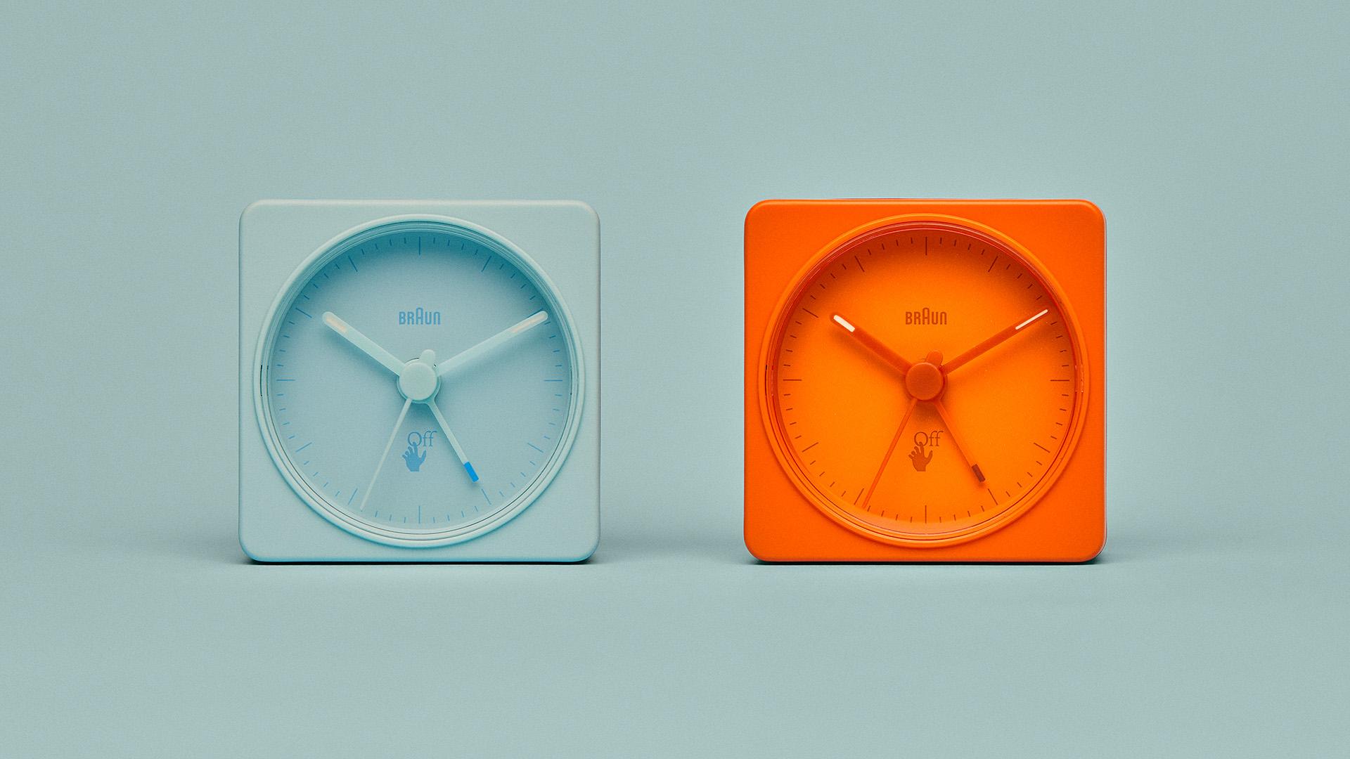 OFF-WHITE c/o VIRGIL ABLOH™️、Braunの名作時計でコラボアイテムデザイン