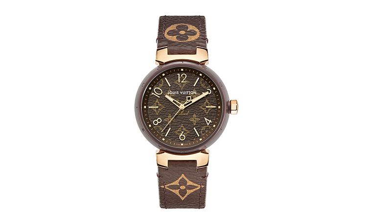 腕時計にモノグラム・キャンバスを再現 LOUIS VUITTON、タンブール・モノグラム新作登場