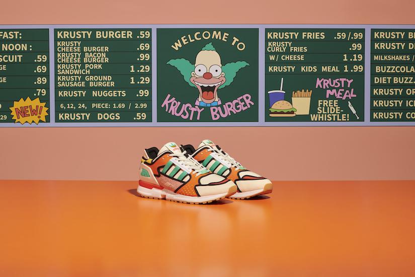 adidas新作シューズ ザ・シンプソンズからKRUSTY BURGERが登場