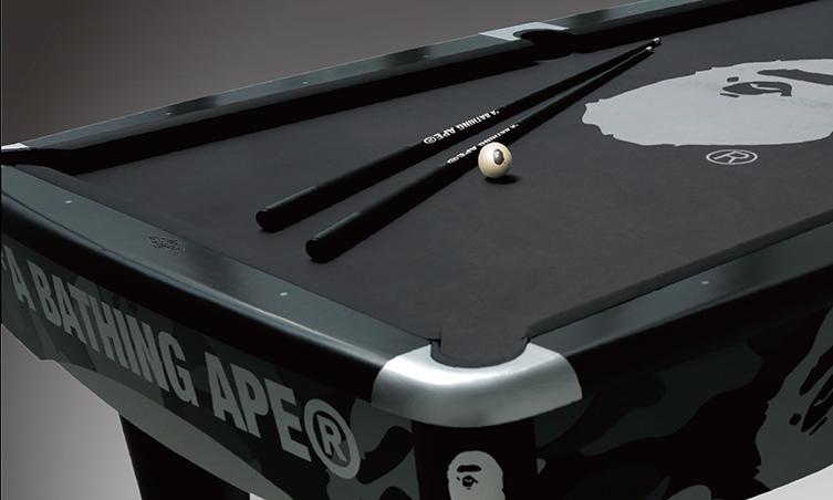 新ラインBAPE® CUSTOMIZED、ビリヤードテーブルを発表 高級感に遊び心も