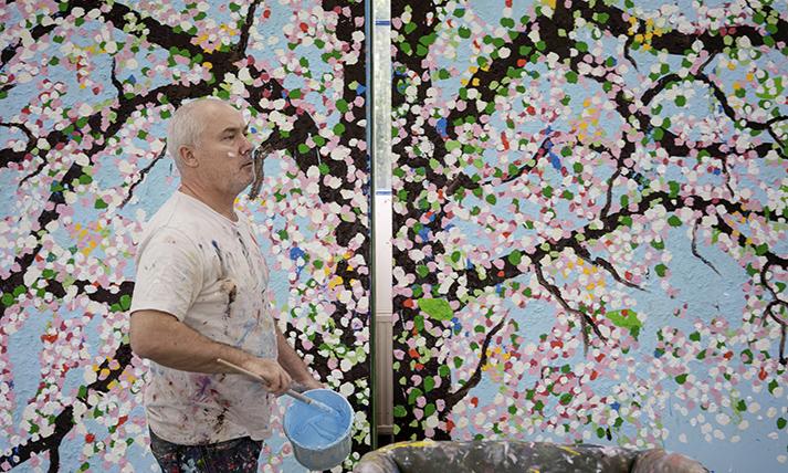 美術家ダミアン・ハーストの最新作「Cherry Blossoms」がパリで初公開