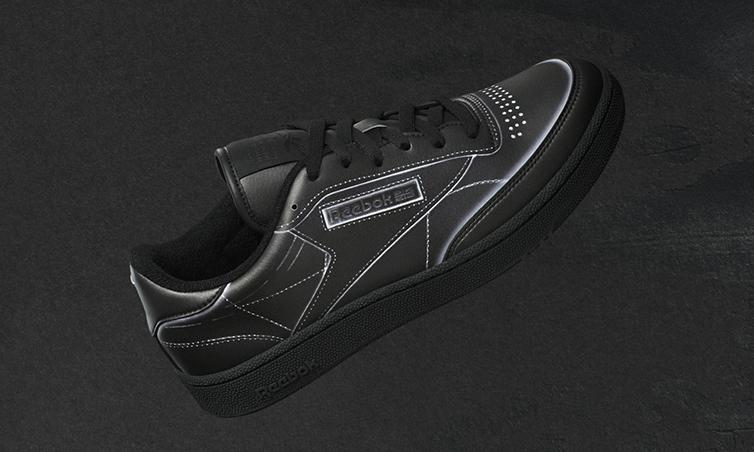 Maison Margiela×Reebok、最新作のスニーカー発売 だまし絵取り入れた「Club C」