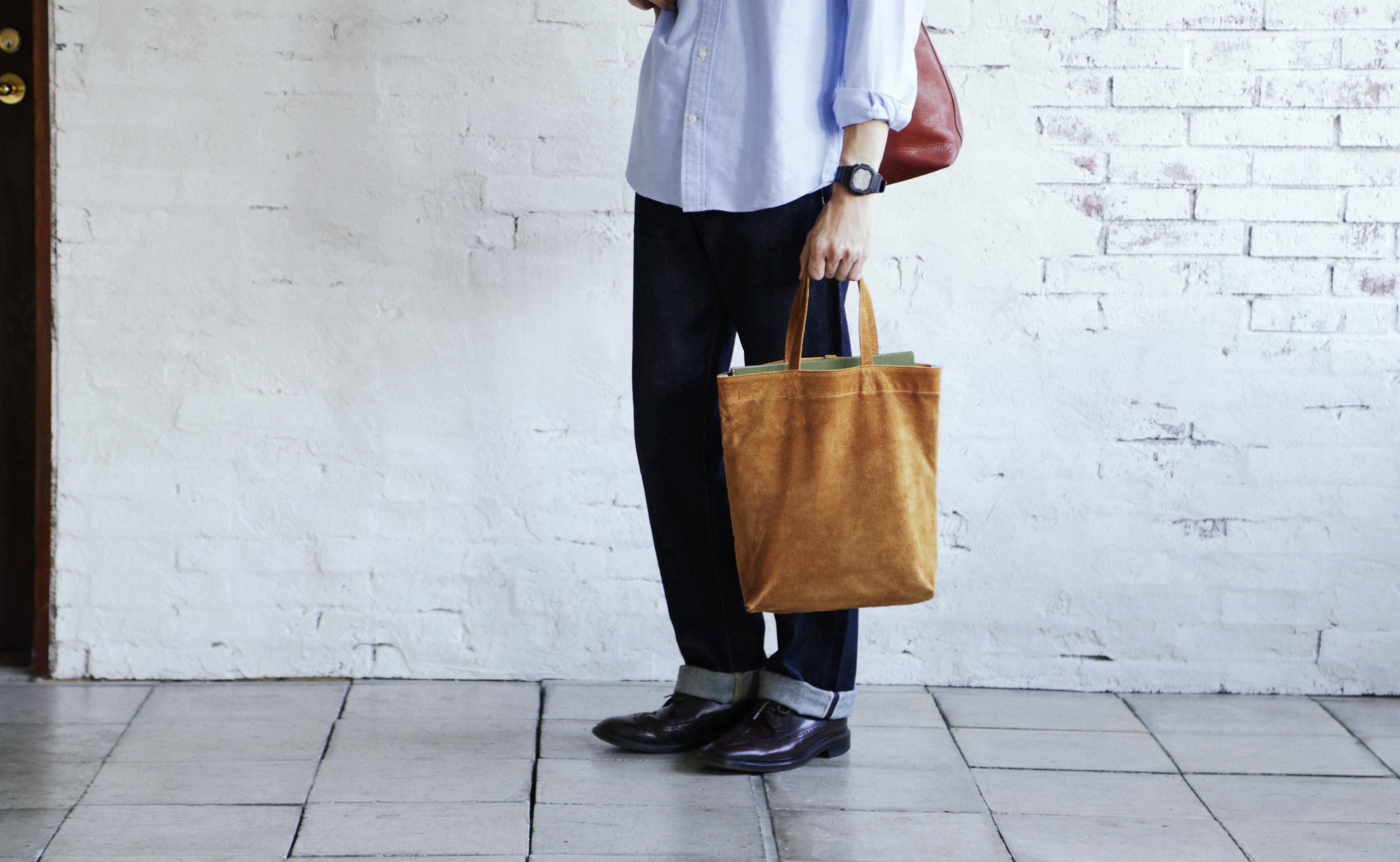 土屋鞄製造所のレザーエコバッグに新色登場