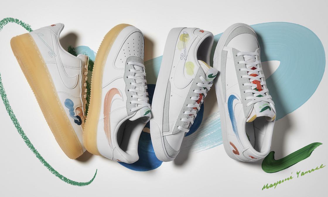 地球色のフライレザー Nike、山瀬まゆみとのコラボシューズ発売