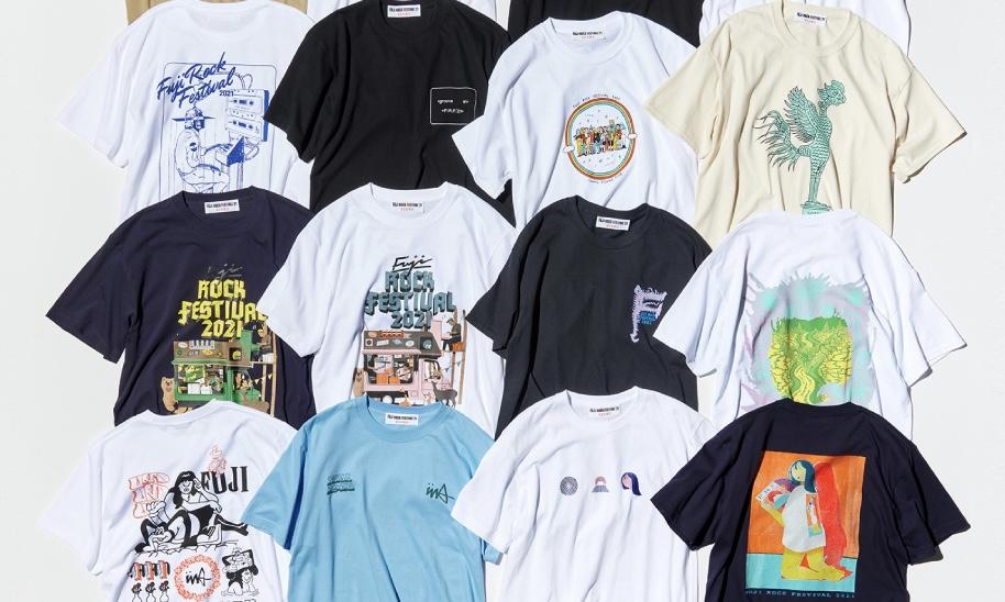 BEAMS 、FUJI ROCK公式Tシャツ発売