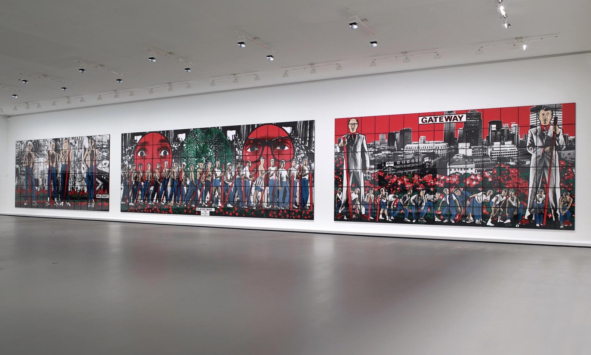 エスパス ルイ・ヴィトン東京、ギルバート&ジョージの3連作を日本初展示